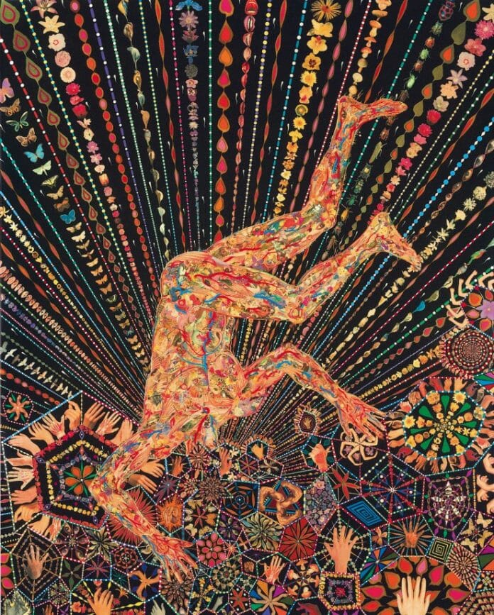 An artwork by Fred Tomaselli