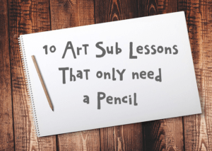 10 art sub lessons that only need a pencil