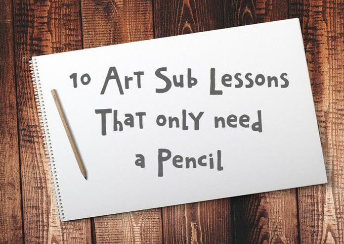 10 Art Sub Lessons