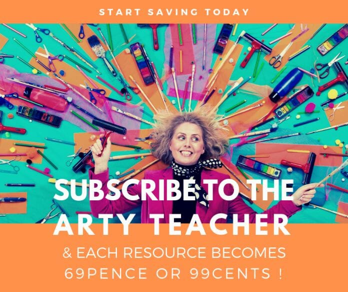 subscribe to the arty teacher
