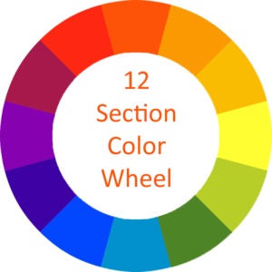 12 section color wheel