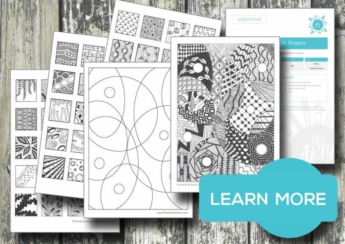 zentangles art lesson