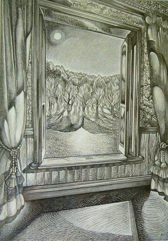 drawing a view through a window