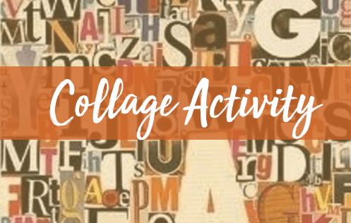 collage activity for home learning