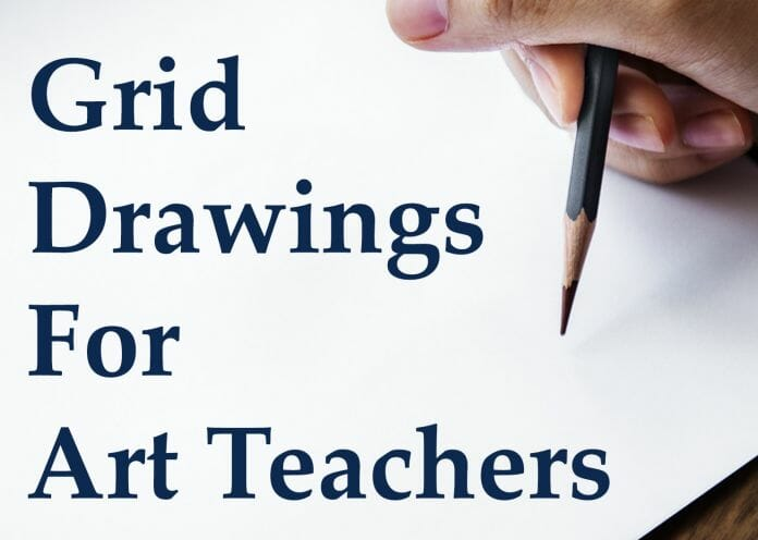 art grid drawings for home learning