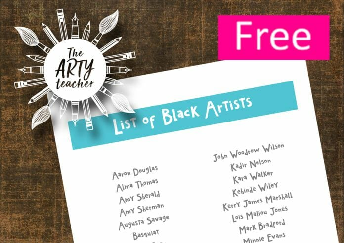 a list of black artists