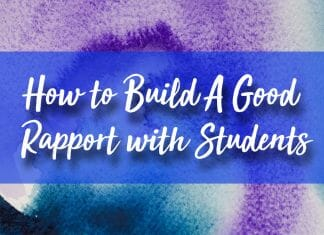 How to Build a Good Rapport with Students