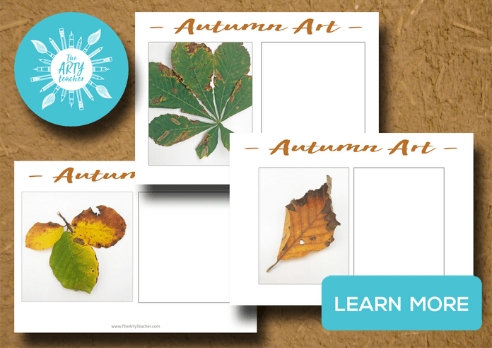 Autumn Art Lesson Drawing leaves