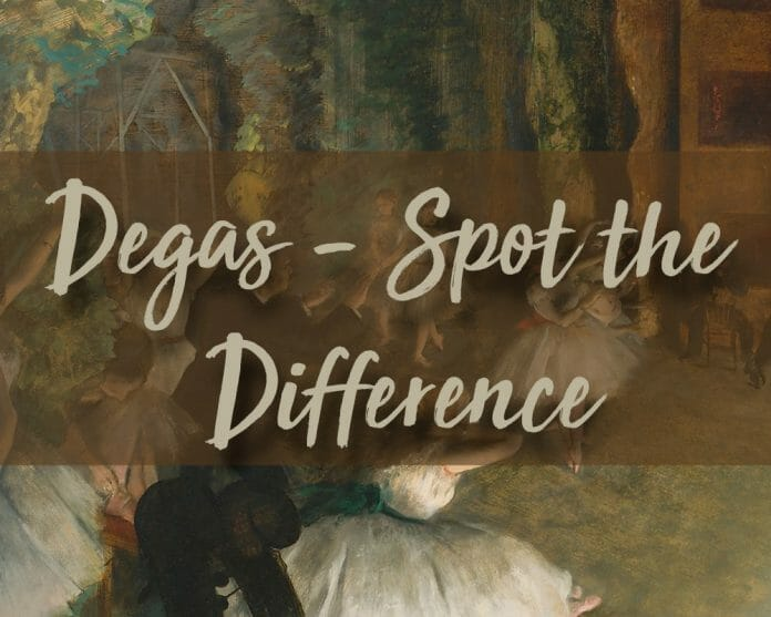 Spot the Difference - Degas