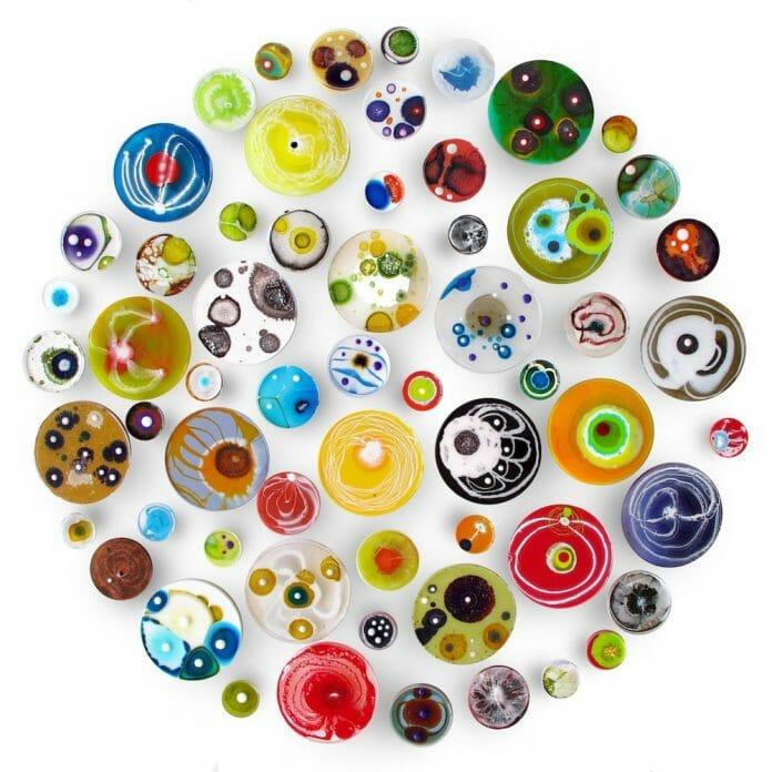 60 Piece Petri Dish Installation