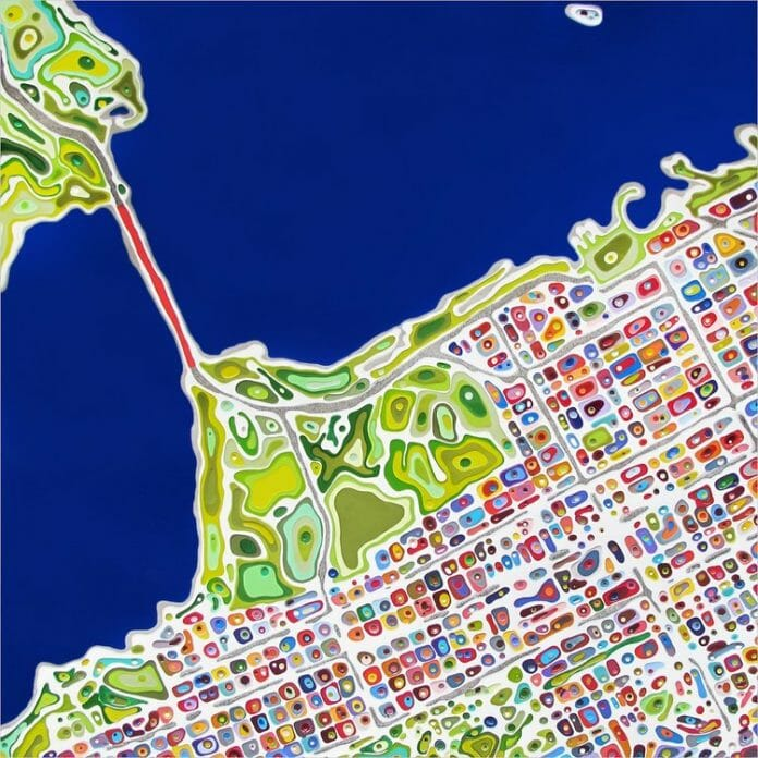 'San Franciso Blue' from the 'Street Anatomy' series by Klari Reis