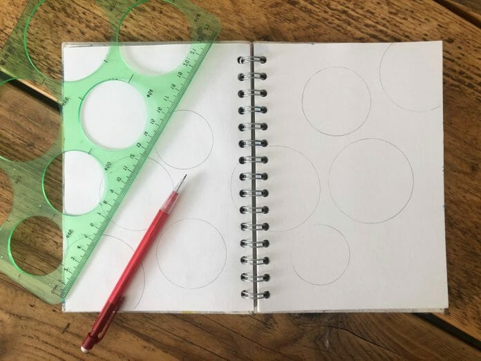 Sketchbook page with circles