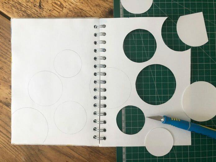 sketchbook circles cut away