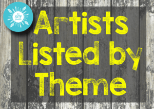 artists listed by theme