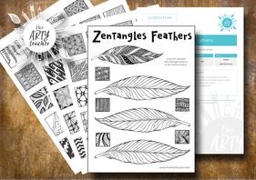 Feathers Zentangles
