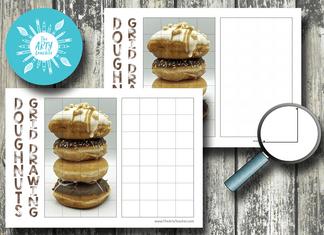 doughnut stack grid drawing
