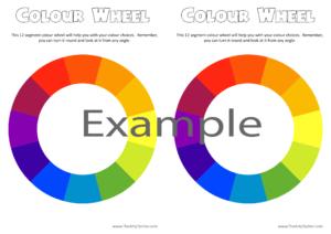 colour wheel pattern