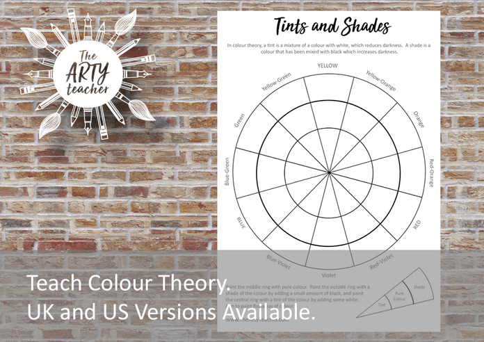 Teach tints and shades colour theory
