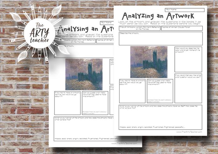 analysing an artwork