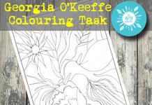Georgia O'Keeffe Colouring Task