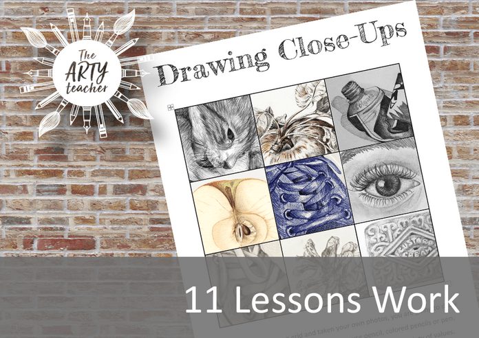 Drawing Close-Ups Art Distance Learning