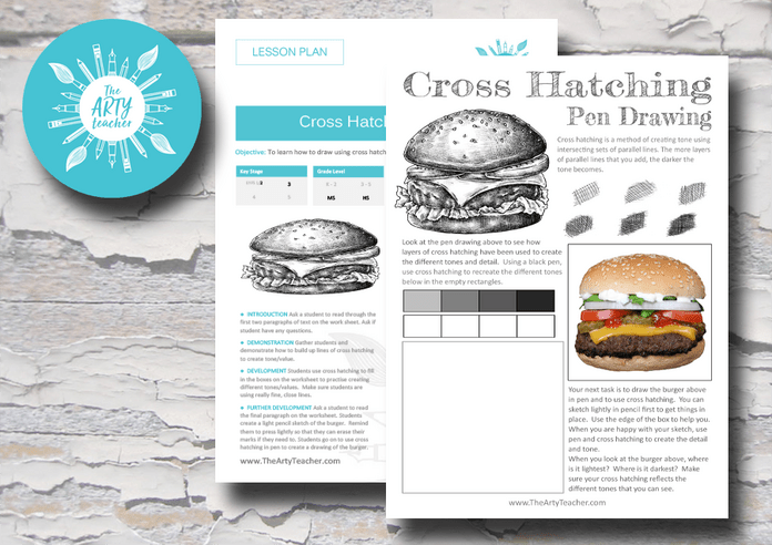 Cross Hatching Burger