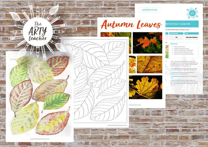 Watercolour Autumn Leaves