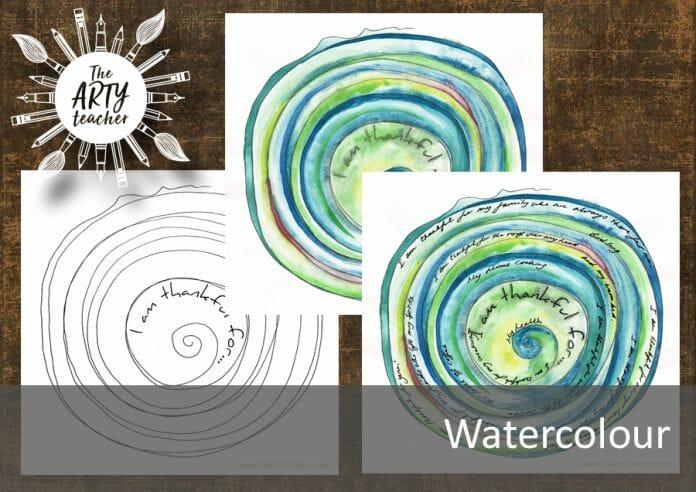 Thanksgiving watercolour lesson