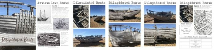 Drawing Dilapidated Boats