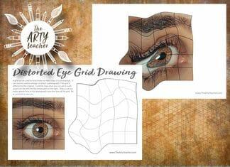 Distorted Eye Grid Drawing