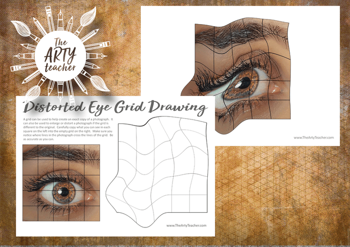 Distorted Eye Grid Drawing