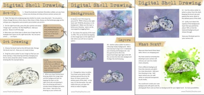 3 Beautifully Presented Pages Guide Your Students Through the Task
