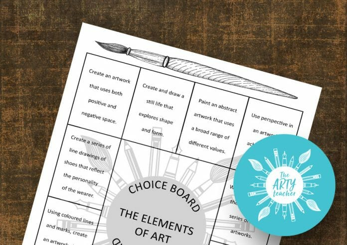 Choice Board Elements of Art