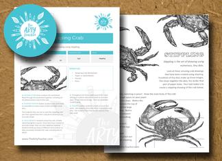 Stippling Crab Art Lesson