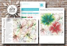 Gradating Lilies art sub lesson