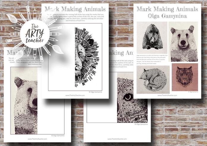 mark making animals