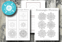 Zentangle Flowers Cover