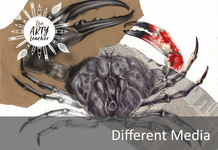 Drawing a crab in different media
