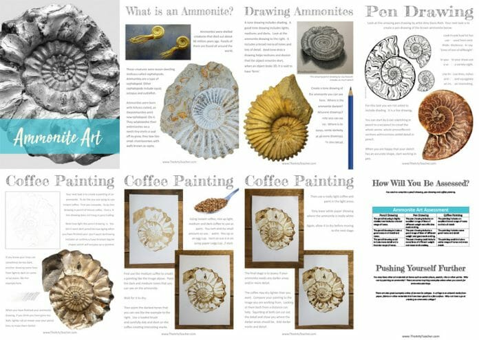 Ammonite Art Distance Learning