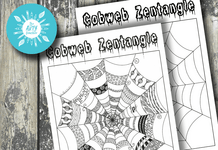 Zentangle Cobweb Worksheet