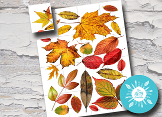 Collaborative Autumn Leaves Artwork